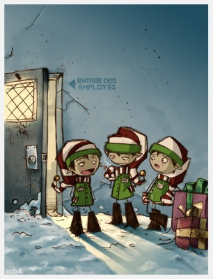 Elves at work