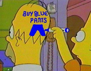 Homer Blue Pants Headvertising