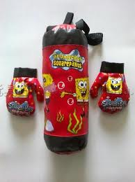 SpongeBob Boxing Bag and gloves
