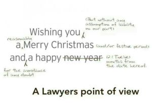 Season's Greetings - A Lawyer's Point of view
