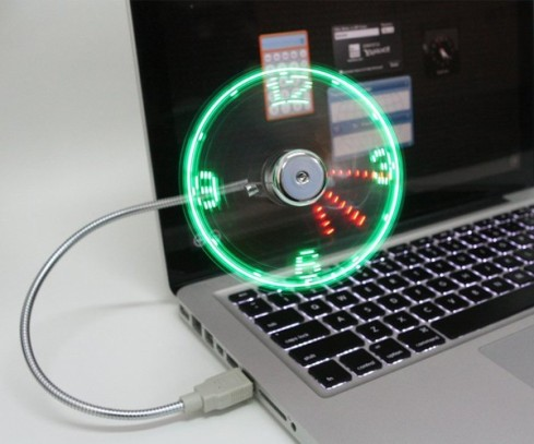 LED-USB-Fan-Clock